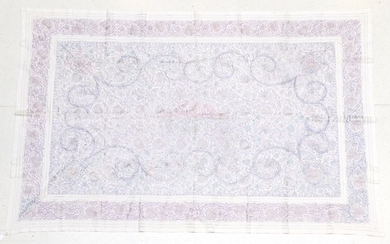 An Early 20th Century Decorative White Linen Bed Cover, hand...