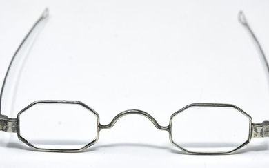 Antique Late 18th C American Silver Eye Glasses