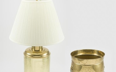 Brass Lamp and Planter