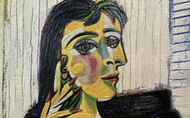 Brushstrokes Artist Reproduced Picasso Painting