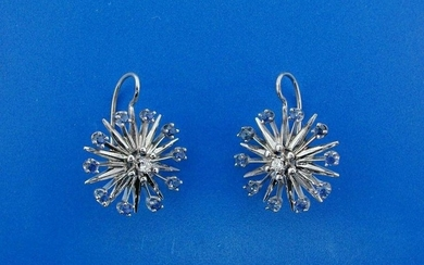 CHIC 14k White Gold, Sapphire & Diamond Earrings