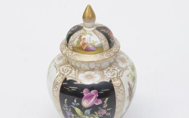 COVERED DRESDEN JAR