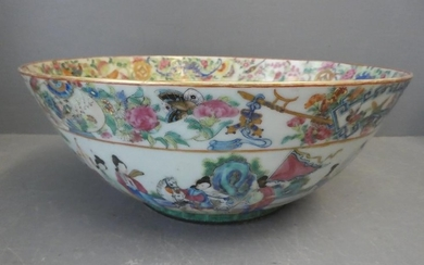 Canton bowl extensively decorated with figures 13cmH x 33cm ...