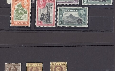 Ceylon 1861-1953 balance of mainly mint collection written-up on album pages including 1861-64...