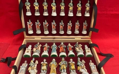 Chess with NIGRI box - Battle of Camelot - Marble powder