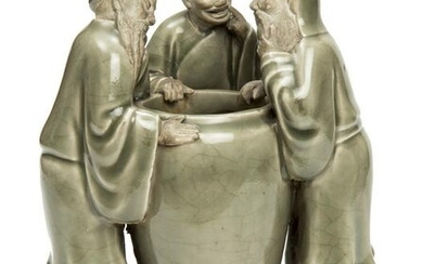 "Chinese Celadon Porcelain ""Guan"". The Three"