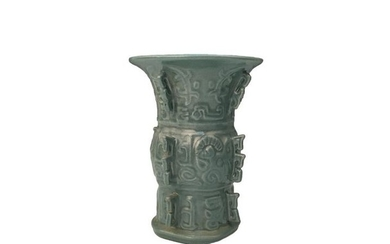Chinese Celdon Glazed Vase, Kangxi Mark