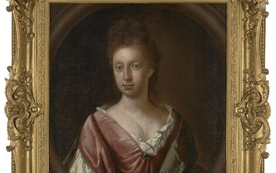 Circle of Mary Beale, British 1633-1699- Portrait of a lady,...