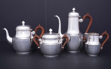Coffee and tea service (4) - .950 silver - Olier & Caron (active 1910-1936) - France - First half 20th century