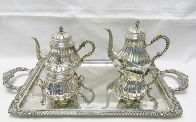 Coffee and tea service - .915 silver - PASGORCY - 3.400 gr. - Spain - First half 20th century