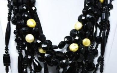 Collection of Antique & Vintage French Jet Beads
