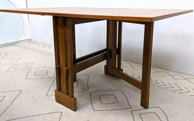 Danish Modern Teak Drop Side Dining Table. Gateleg.