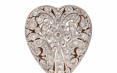 Diamond Heart Pendant/Brooch
