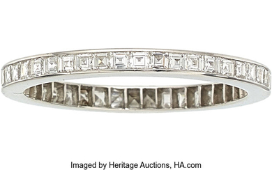 Diamond, Platinum Eternity Band The eternity band features square...