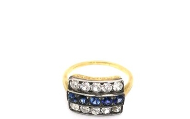 Diamond and gold ring Art Deco