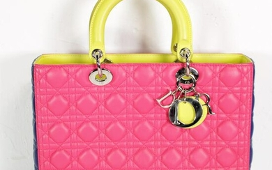 Dior Lady Tricolor GM in Cannage Leather