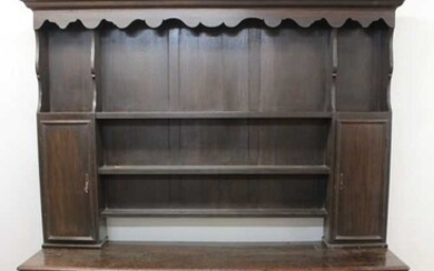 Early 18th century and later oak high dresser