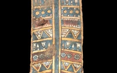 Egyptian Cartonnage Panel - Lotuses and Chalices