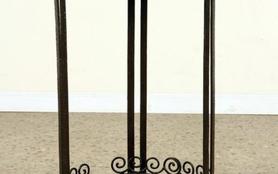 FRENCH ART DECO WROUGHT IRON TABLE MARBLE TOP