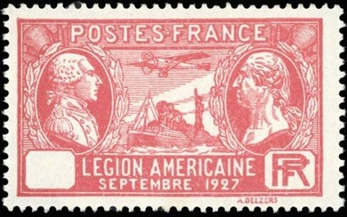 France - 90 centimes red, 'Légion Américaine', without value in the cartridge, superb, signed. - Yvert 244b