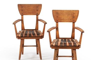 GUSTAVE SERRURIER-BOVY   PAIR OF CAMPAGNE ARMCHAIRS, 1902 [PAIRE DE FAUTEUILS CAMPAGNE, 1902]