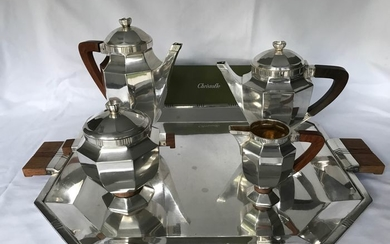 Gallia by Christofle Art Déco- Coffee and tea service - Silver plated