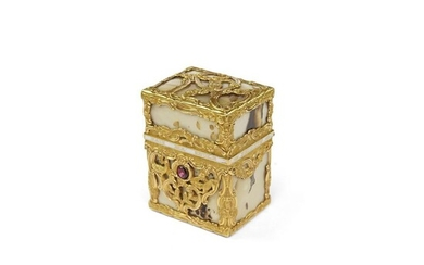 George III Gold Mounted Agate Necessaire