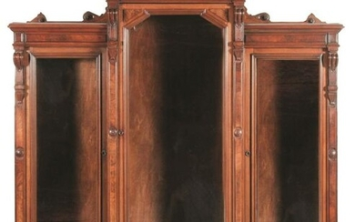 HIGH STYLE VICTORIAN THREE-SECTION BOOKCASE.