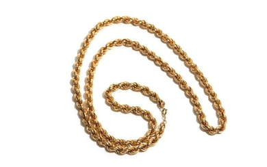 ITALIAN 18K YELLOW GOLD CHAIN, 70g.