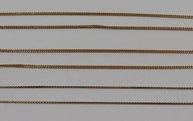 JEWELRY. (3) 18kt Gold Chains.