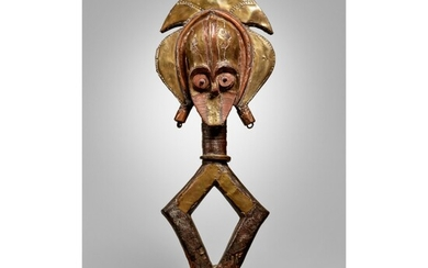 KOTA-OBAMBA RELIQUARY FIGURE BY THE SEBE RIVER MASTER OF THE SKULL HEAD, GABON
