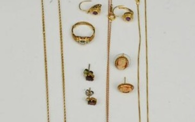 Lot Of Estate Found 14k Gold Jewelry
