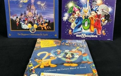 Lot of 3 Walt Disney World Calendars Sealed 1999 2000