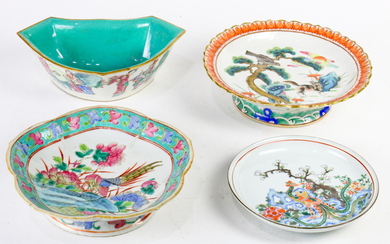(Lot of 4 ) Chinese enamelled Porcelain Dishes