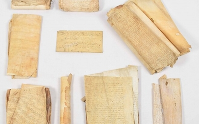 Lot with 46 deeds on vellum and paper