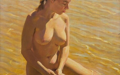 MAX MIDDLETON (1922-2013) Golden Afternoon 2000 oil on canvas