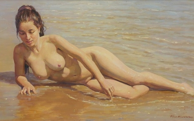 MAX MIDDLETON (1922-2013) Hazel In The Shallows 1998 oil on canvas