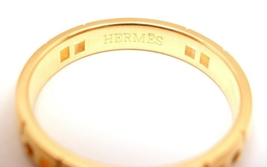 """MINT! AUTHENTIC HERMES 18K SOLID YELLOW GOLD """"H"""""""