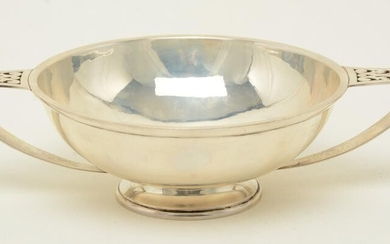 McAuliffe & Hadley sterling silver two-handed bowl