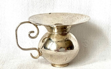 Miniature spittoon - .833 silver - A.van Geffen - Netherlands - Mid 18th century