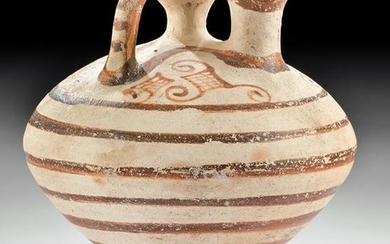 Mycenaean Bi-chrome Piriform Stirrup Vessel