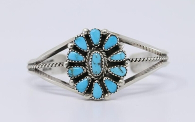 Navajo Handmade Turquoise Sterling Silver by Evelyn