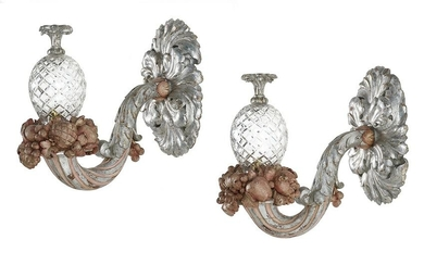 Pair of French Baroque-Style Sconces