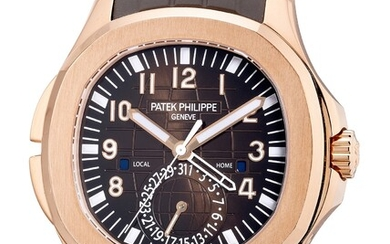 Patek Philippe, Ref. 5164R-001 A fine and rare pink gold dual time wristwatch with center seconds, date, day and night indication, Certificate of Origin and presentation box