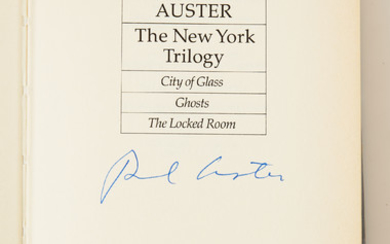 Paul Auster firsts, 3 vol.