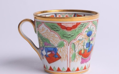 Porcelain cup with folk and floral motifs. Imperial