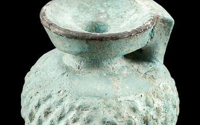 Rare Greek Rhodian Glazed Faience Aryballos