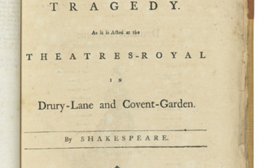 SHAKESPEARE, William (1564-1616). [Six plays in one volume]. London: 1777-1780.,