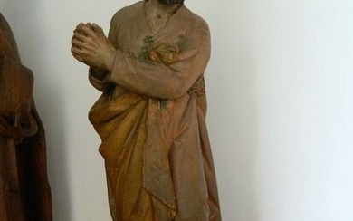 Saint, Sculpture - Baroque - Terracotta - Late 17th century