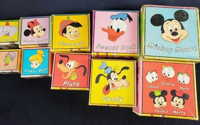 Set of 10 Stackable Disney Character Counting Boxes